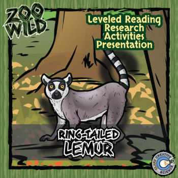 Ring-Tailed Lemur -- 10 Resources -- Coloring Pages, Reading & Activities