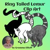 Ring Tailed Lemur Clip Art Free Sample