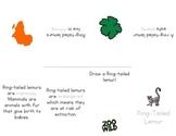 Ring Tailed Lemur -- Little Book Foldable -- Homeschool or Elementary Fun