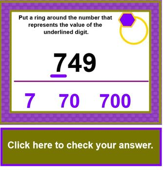 Ring The Place Value SMARTBOARD