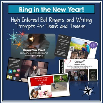 Bell Ringers and Writing Prompts for Teens & Tweens: Ring in the New Year!
