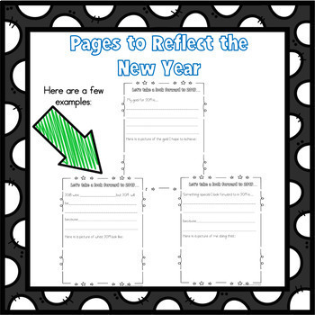 New Years 2018 Activities Writing Frames, Goals, Self Evaluation and More