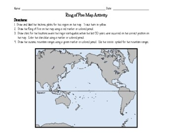 Ring Of Fire Map Activity By Jodi S Jewels Teachers Pay Teachers