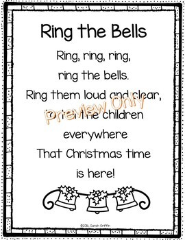 ring the bells christmas poem for kids by sarah griffin tpt