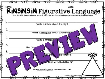 Ringing In Figurative Language (A New Years Literary Device Unit)