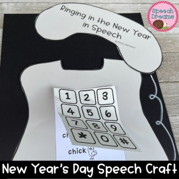 Ringing in the New Year Speech Therapy Craftivity {language & articulation}