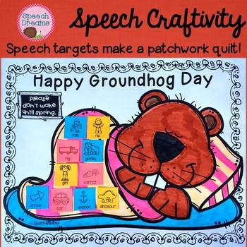 Groundhog Day Speech Therapy Craftivity {language & articulation}