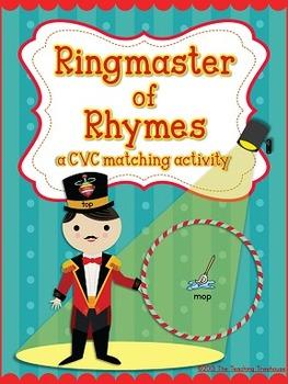 Circus CVC Rhyming Activity