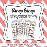 Ringo Bingo - A Preposition Activity