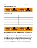 Ringraziamento Short Reading-Thanksgiving Short Reading