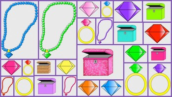 Rings, Gems, Necklaces and Treasure Chest Clipart