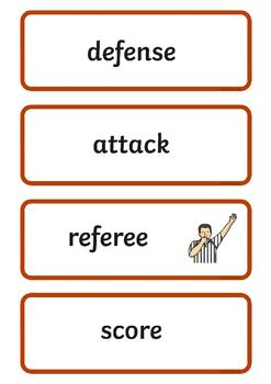 Rio 2016 Olympics Basketball Word Cards