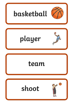 Rio 2016 Olympics Basketball Word Cards