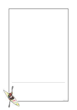 Rio 2016 Olympics Canoeing Page Borders