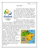 Rio 2016 Summer Olympic Games Reading Comprehension