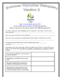 Summer Olympics: Rio 2016 WebQuest--Version 2!