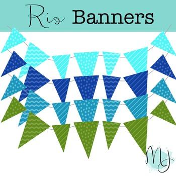 Rio Banners Clipart