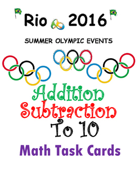 Rio Olympic Fun {addition and subtraction to 10}
