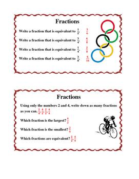 Olympic Math Task Cards