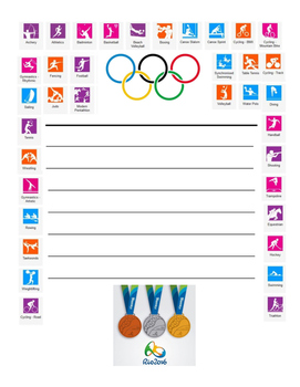 Rio Olympic Quick Write Paper