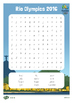 Rio Olympics 2016 Word Search