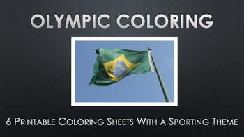 Rio Olympics Coloring Activities