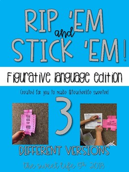 Rip 'Em and Stick 'Em: 3 different versions of Fig. Language