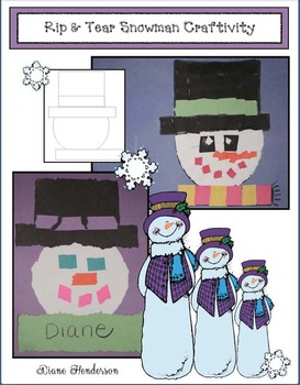Rip & Tear Snowman Craftivities