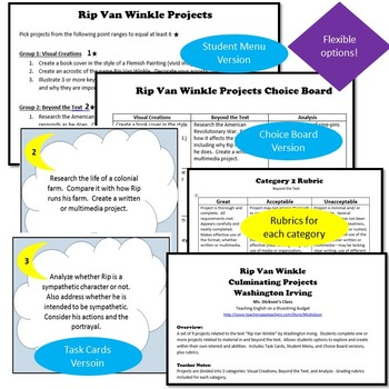 Rip Van Winkle Activity Bundle (Washington Irving) - Word
