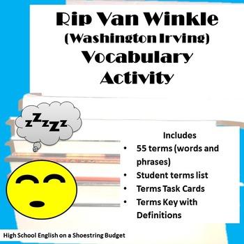 Rip Van Winkle Vocabulary Activity  (Washington Irving)