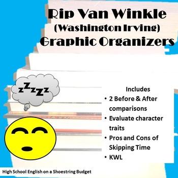 Rip Van Winkle Graphic Organizers (Washington Irving)