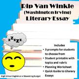 Rip Van Winkle Literary Essay (Washington Irving)