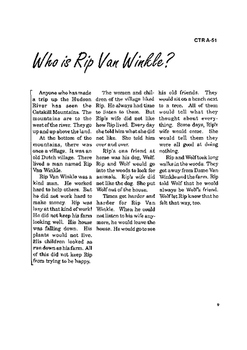 Rip Van Winkle 10 Chapter Reader
