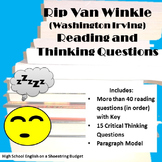 Rip Van Winkle Reading & Critical Thinking Questions (Washington Irving)