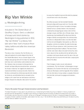 Rip Van Winkle: Theme Revealed Through Characterization and Symbolism