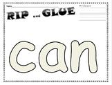 Rip and Glue Sight Word Freebie
