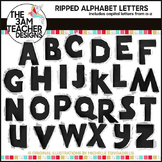 Ripped Alphabet Letters