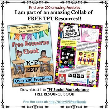 Ripper Reading Resources' Freebies page from the TPT Social Marketplace ebook