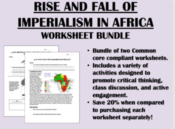Rise and Fall of Imperialism in Africa Worksheet Bundle - Global/World History