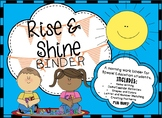 Rise and Shine Binder - A Morning Work Binder for Special Education Students