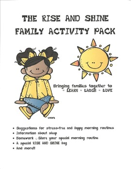 Rise and Shine Family Time Pack (Bringing families together to LEARN-LAUGH-LOVE)