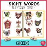 $2 Dollar Deals: Sight Word File Folder Game: Chickens