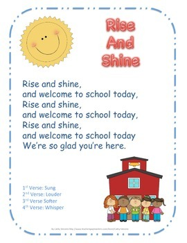 Rise and shine and welcome to school today dr jean song by cathy rise and shine and welcome to school today dr jean song m4hsunfo
