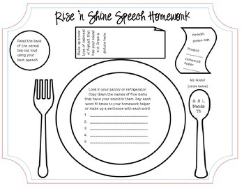 Rise 'n Shine Breakfast Activity - Open ended with homework