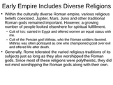 Rise of Christianity in the Roman Empire Powerpoint