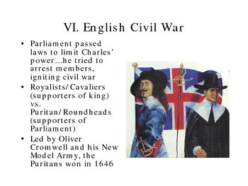 Rise of Democracy Revolution in England lomino power point