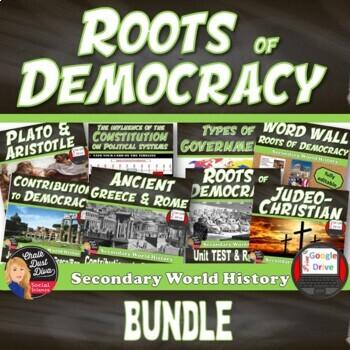 Roots of Democracy UNIT BUNDLE World History Print and Digital