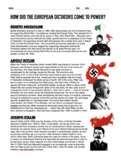 Rise of Dictators: Hitler, Mussolini, Stalin (US History 8)