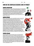 Rise of Dictators: Hitler, Mussolini, Stalin (US History 8)