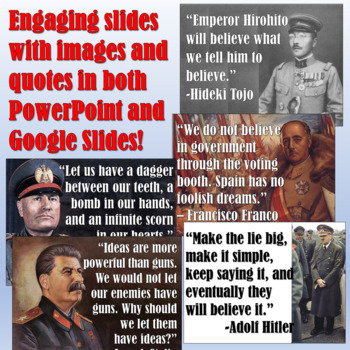World War II Dictators Pop Up Figures Lesson Plan
